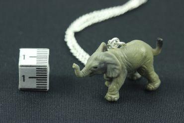 Elephant Necklace Mini Baby Child Children zoo animal africa big 5 Miniblings 45cm – Bild 2