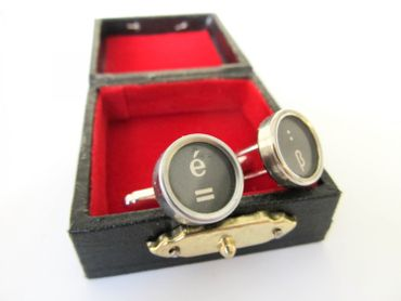 Equal Sign ß = Cuff Links Cufflinks Typewriter Keys Miniblings German S – Bild 2