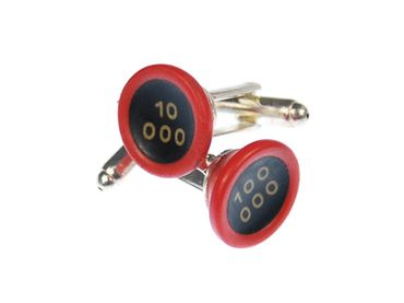10 000 Potencies Cuff Links Cufflinks Typewriter Keys Miniblings Red Black Resin – Bild 1