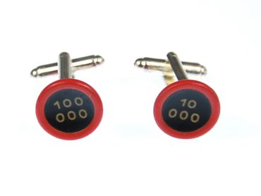 10 000 Potencies Cuff Links Cufflinks Typewriter Keys Miniblings Red Black Resin – Bild 3