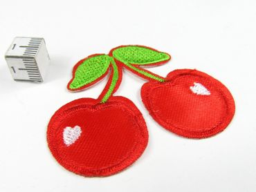 Cherry Patch Hotfix Iron On Application Motif Miniblings Cherry Garden Cherry 6X5cm – Bild 2