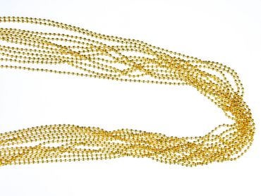 12X Ball NecklaceNecklace 2.4mm DIY Miniblings Necklace Gold Plated Jewelry Necklaces 80cm – Bild 3