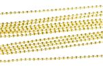 12X Ball NecklaceNecklace 2.4mm DIY Miniblings Necklace Gold Plated Jewelry Necklaces 80cm