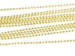 12x Kugelkette 2,4mm DIY Miniblings Kette vergoldet Schmuckketten 80cm