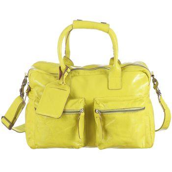COWBOYSBAG Leather Handbag Fleet - neon yellow - REDUCED – Bild 1