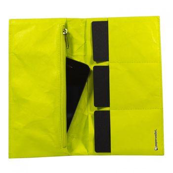 PAPERWALLET Women's Tyvek Tyvek Wallet Clutch - neon – Bild 3