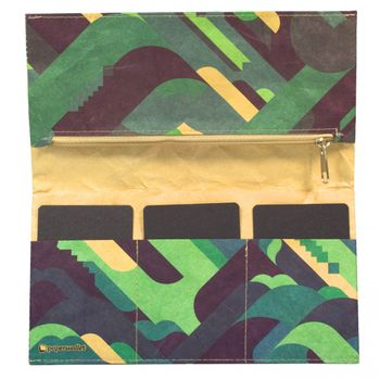 PAPERWALLET – Women's Tyvek Tyvek Wallet Clutch Pianofuzz - green – Bild 2
