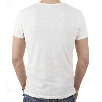 **CLEARANCE** JAPAN RAGS Men's T-shirt Crew Canari - white/beige – Bild 2