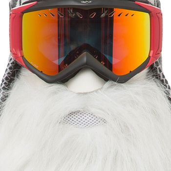 BEARDSKI ski mask Merlin - Long white beard – Bild 3