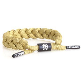 RASTACLAT Lurex Braided Shoelace Bracelet - Gold – Bild 1