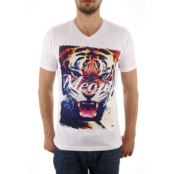 **CLEARANCE** HAPPY CLOTHING Fashion T-Shirt V-Neck Meow – Bild 1