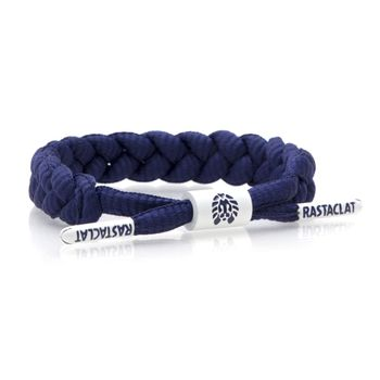 RASTACLAT Braided Shoelace Bracelet Indigo - navy – Bild 1