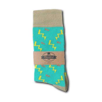 MOUSTARD Men's Socks Zeus - turquoise  – Bild 2