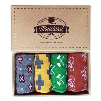 MOUSTARD Men's Socks Gift Box #1 - assorted colours – Bild 1