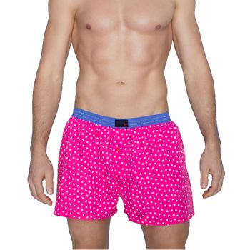 UNABUX Boxer Short Pink Hearts - pink with white hearts – Bild 1