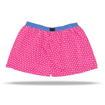 UNABUX Boxer Short Pink Hearts - pink with white hearts – Bild 2