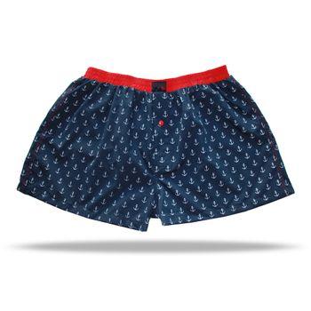 UNABUX Boxer Short Ankerman - dark blue with white anchors – Bild 2