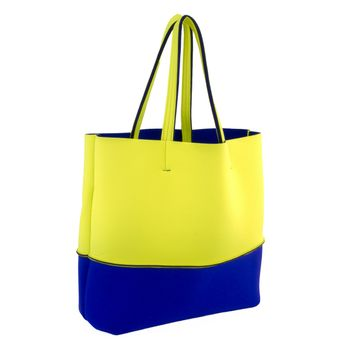 LEGHILA Beach Bag - large - neon yellow/blue – Bild 1