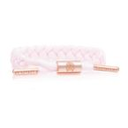 RASTACLAT Women's Braided Shoelace Bracelet Phoebe - light pink/peach gold
