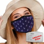 NIFTY Reusable face mask with filter - Anchors - purple – Bild 3
