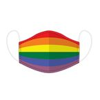"NIFTY Reusable face mask ""Rainbow"" - large"