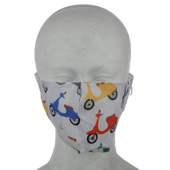 """NIFTY Reusable face mask """"Speed King Scooter"""" - large – Bild 2"""