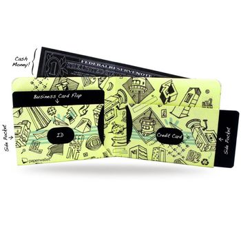 PAPERWALLET Tyvek Wallet Art Series 2 - ELNA – Bild 3