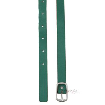 **CLEARANCE** COWBOYSBELT Leather Belt Sam Brown - Colour: Green – Bild 2