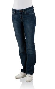 Cross Damen Jeans Rose - Regular Fit - Intensive Dark Blue