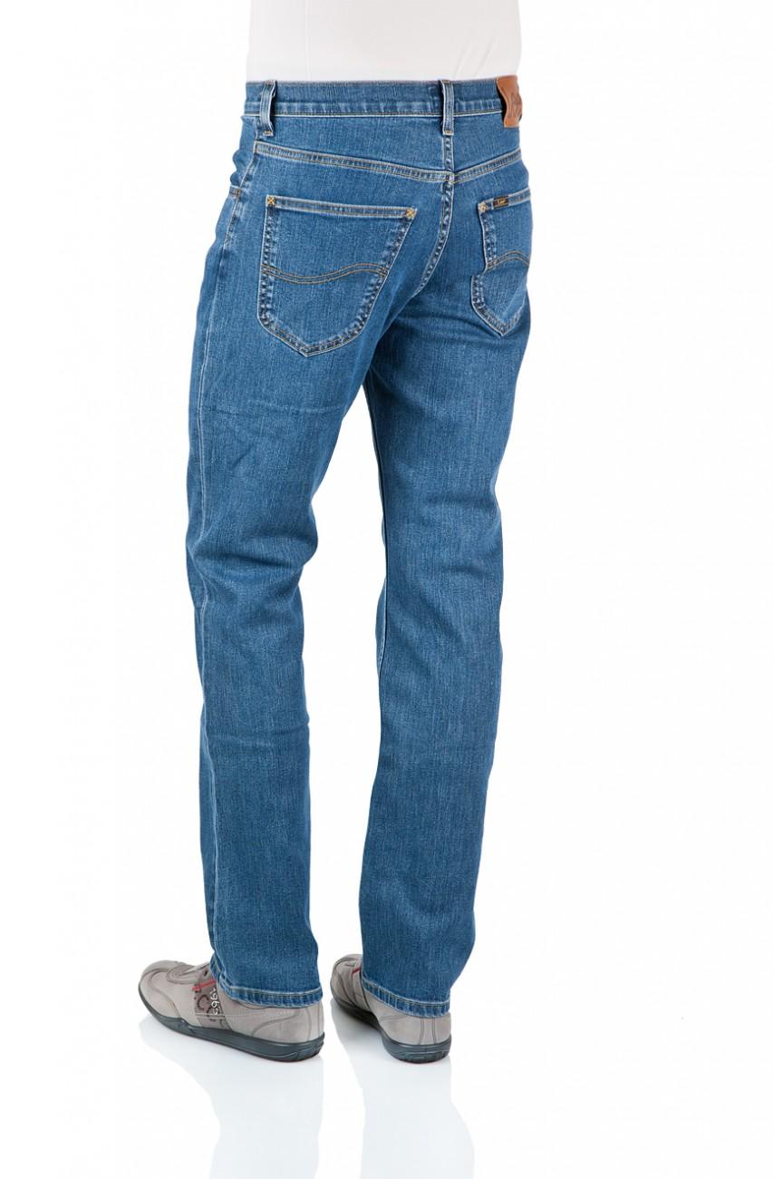 Lee Herren Jeans Brooklyn Straight - Regular Fit - Mid Stonewash