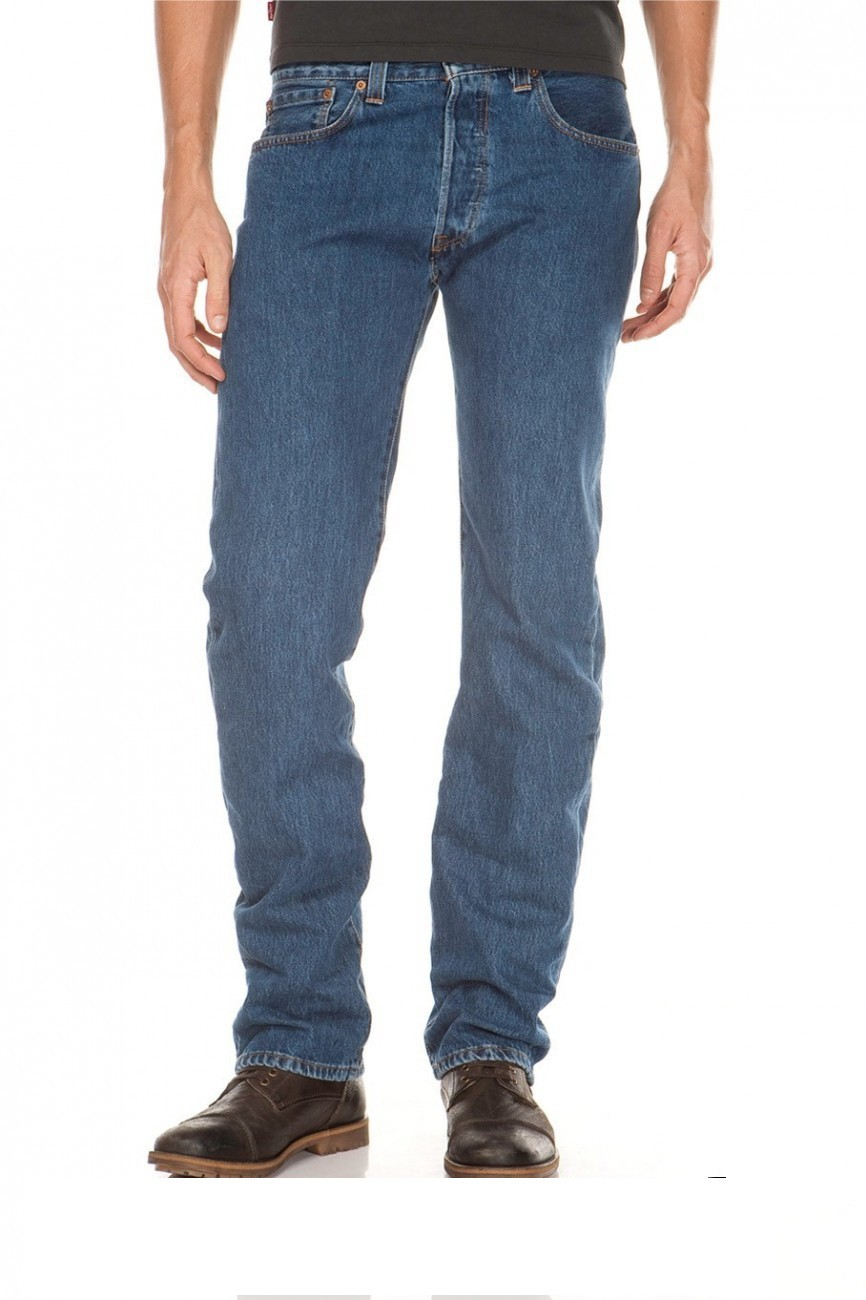 Levis® 501® Jeans - Regular Straight Fit - Stonewash - Onewash - Marlon Wash - Black - Light Broken In