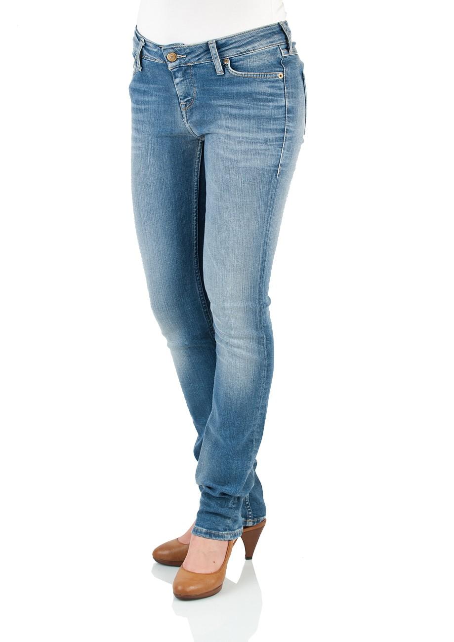 Mustang Damen Jeans Jasmin - Slim Fit - Brushed Bleached