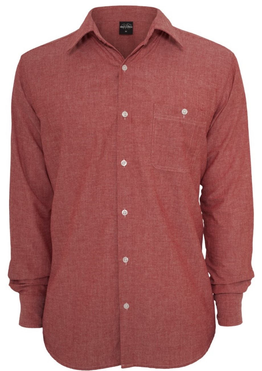 Urban Classics Chambray T-Shirt - Regular Fit