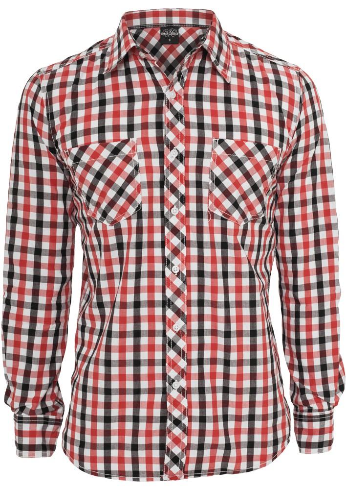 Urban Classics Tricolor Big Checked T-Shirt - Regular Fit