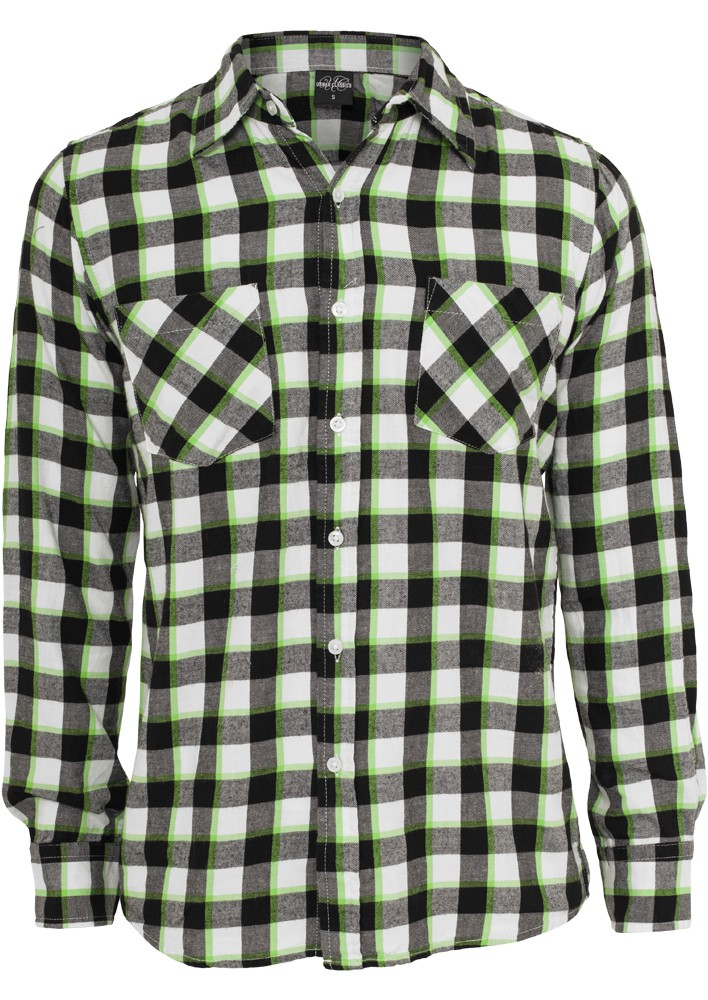 Urban Classics Tricolor Checked Light Flanell T-Shirt - Regular Fit