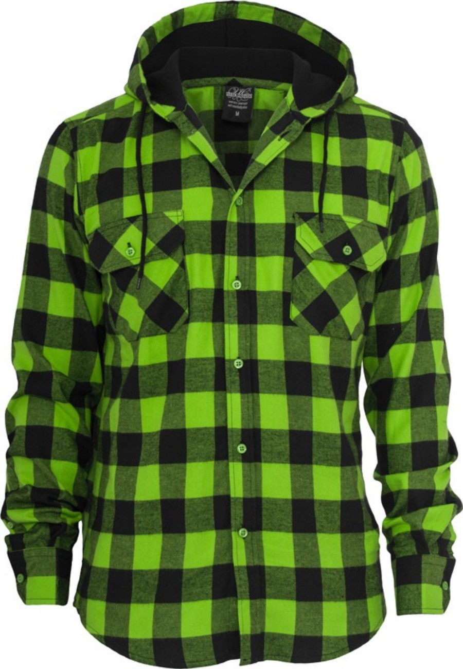 Urban Classics Hooded Checked Flanell T-Shirt - Regular Fit