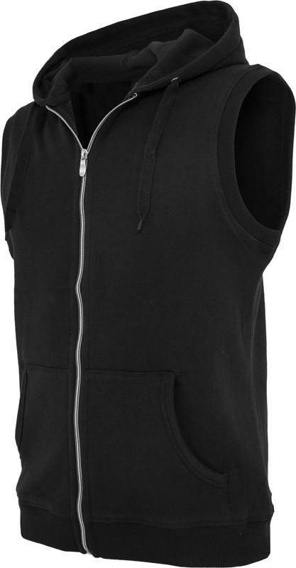 Urban Classics Light FLeece SLeeveless Zip Kapuzenpullover - Regular Fit