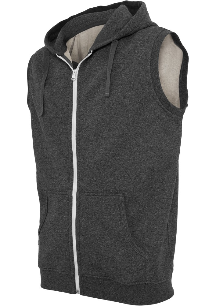 Urban Classics Melange SLeeveless ZipKapuzenpullover Regular Fit