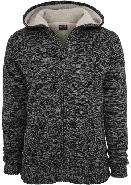 Urban Classics Herren Winter Knit Zip Kapuzenpullover - Regular Fit