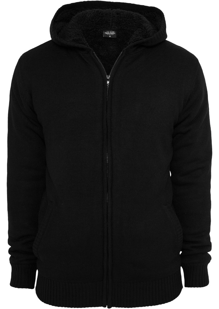 Urban Classics Herren Knitted Winter Zip Kapuzenpullover - Regular Fit
