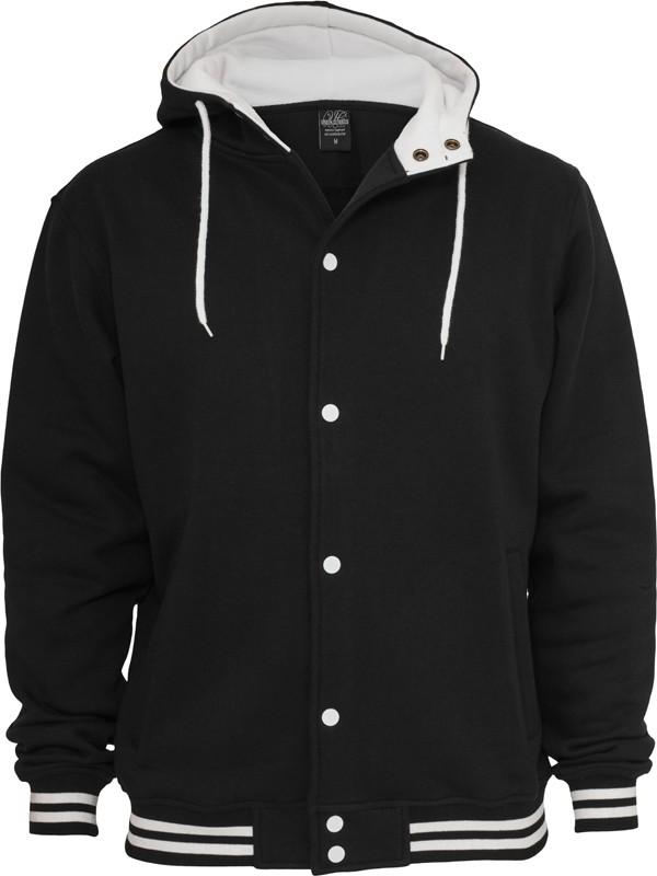 Urban Classics Herren Hooded College Sweatjacke - Regular Fit