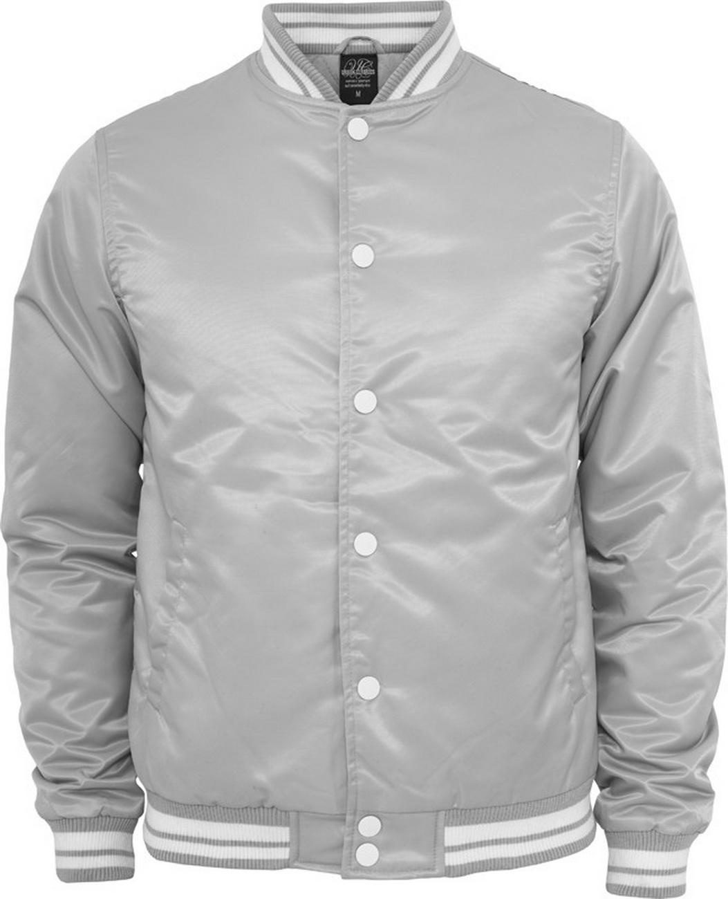 Urban Classics Herren Shiny College Jacke - Slim Fit