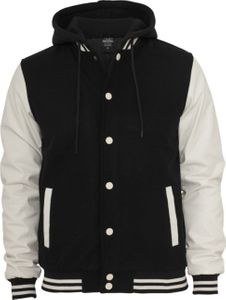 Urban Classics Herren Hooded Oldschool College Jacke - Slim Fit