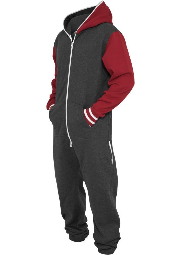 Urban Classics Herren College Sweat Jumpsuit - Regular Fit