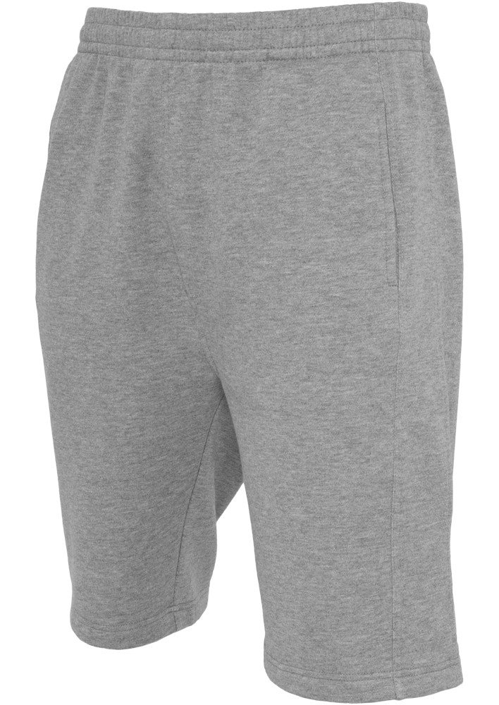 Urban Classics Herren Shorts Light FLeece Sweatshorts - Regular Fit - Black - Charcoal - Grey - Red