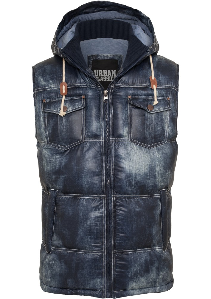 Urban Classics Herren Denim Look Weste - Regular Fit