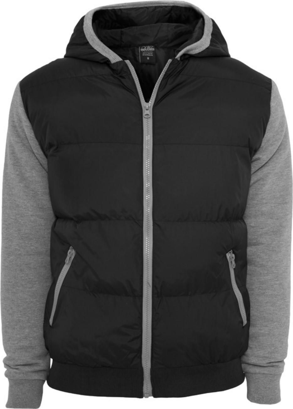 Urban Classics Herren Sweat Nylon Bubble Zip Kapuzenpullover