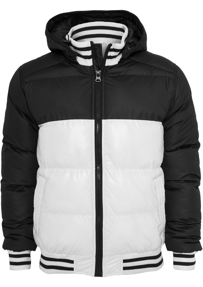 Urban Classics Herren Shiny 2-tone Hooded College Bubble Jacke
