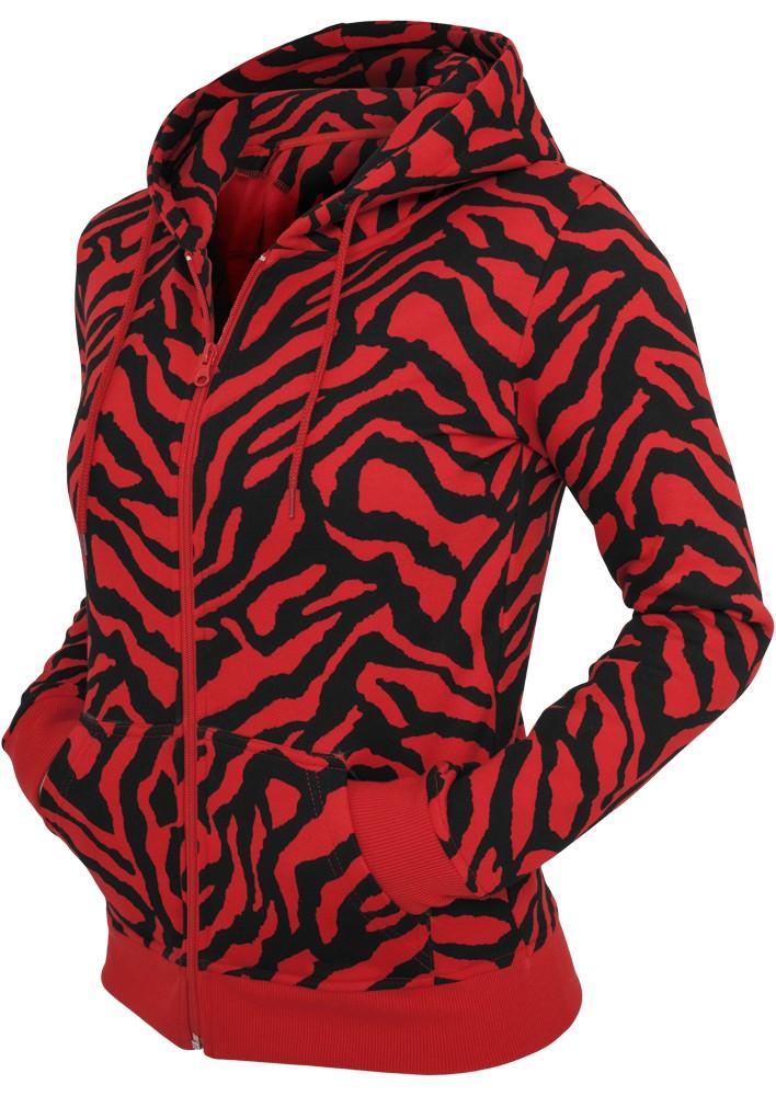 Urban Classics Damen Zebra Zip Kapuzenpullover
