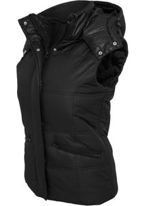 Urban Classics Damen Shiny Hooded Weste